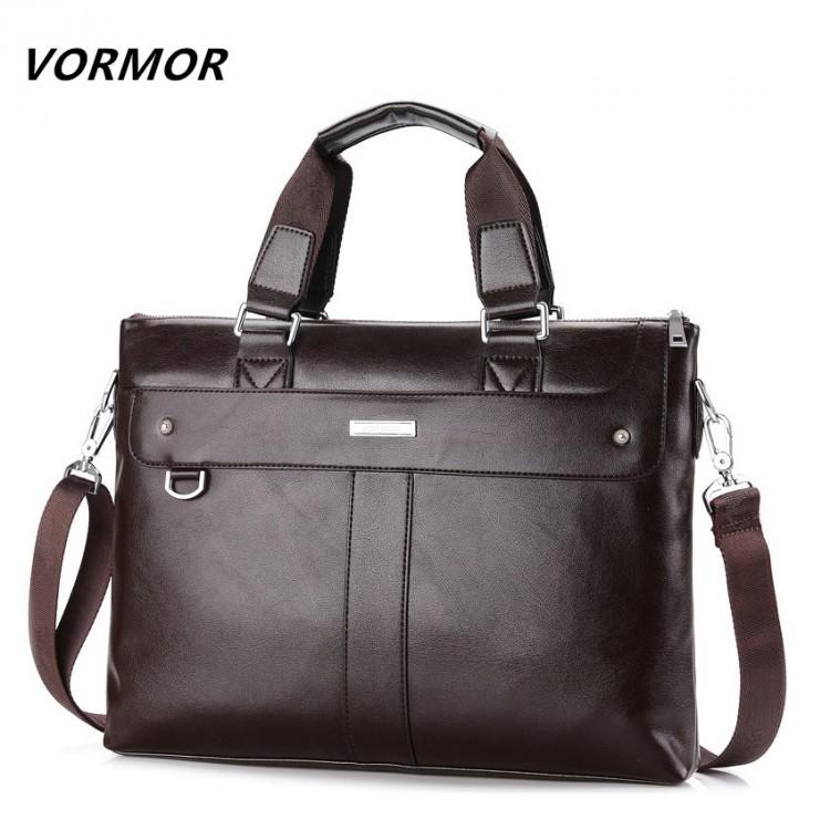 Men Leather Shoulder Bag Briefcase Handbag Travel Casual Messenger Crossbody Bag