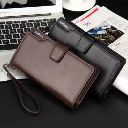Top Quality  leather long wallet men pruse male clutch zipper around wallets men women money bag pocket mltifunction