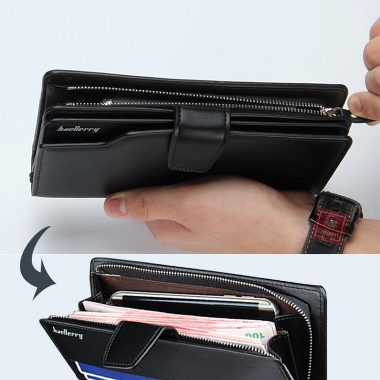 e73bb3169 Top Quality leather long wallet men pruse male clutch zipper around wallets  men women money bag pocket mltifunctionMens Leather Wallets
