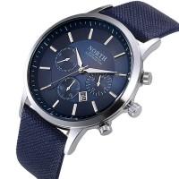 2016 Mens Watches NORTH Brand Luxury Casual Military Quartz Sports Wristwatch Leather Strap Male Clock watch relogio masculino