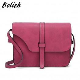 Bolish 2017 Fashion Women's Handbag Bag Small Crossbody Bags Vintage Spring Women Shoulder Bag Nubuck Leather Women Bag