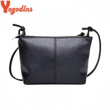 3de44b0d88e2 Yogodlns New&Hot ! 2017 fashion casual shoulder bag cross-body bag small  vintage women's handbag pu leather women messenger bagsLeather Bags
