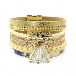 wellmore summer leather bracelet charm bracelets & bangles magnet buckle bracelet  Bohemian bracelets for women manchette B1561
