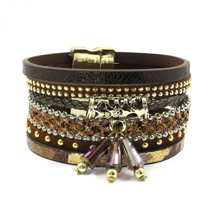 wellmore summer leather bracelet charm bracelets & bangles ...