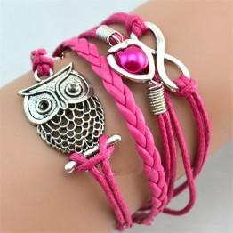 LNRRABC Hot 1 Pc Women Fashion Charming Infinity Friendship Multilayer Charm Leather Bracelets Jewelry Gift