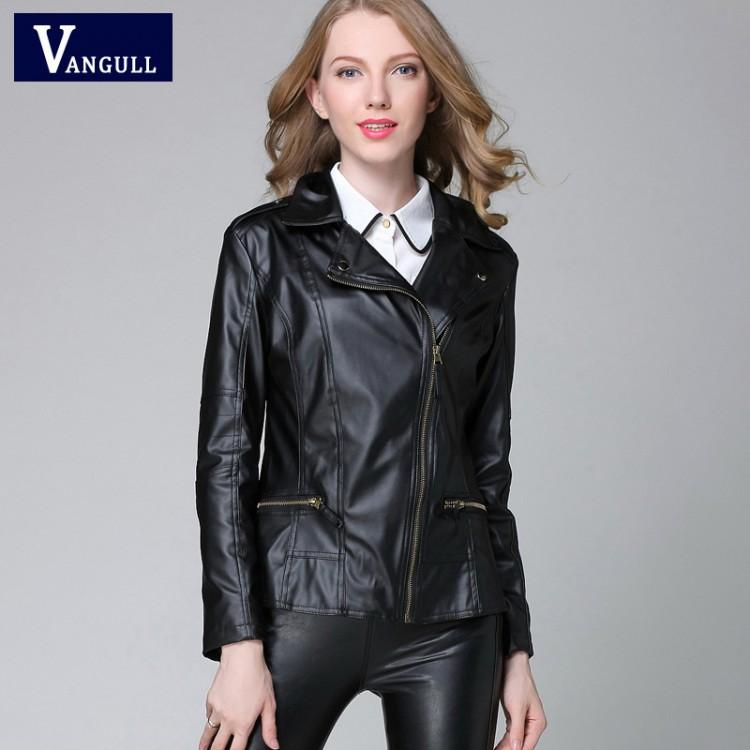 2016 New Elegant Autumn Winter Leather Jacket Women's ...