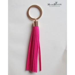 Fashion Tassel Key Chain Women bag charm accessories Tassel Key Holder Korean velvet leather Car Key Ring gift jewelry 17014